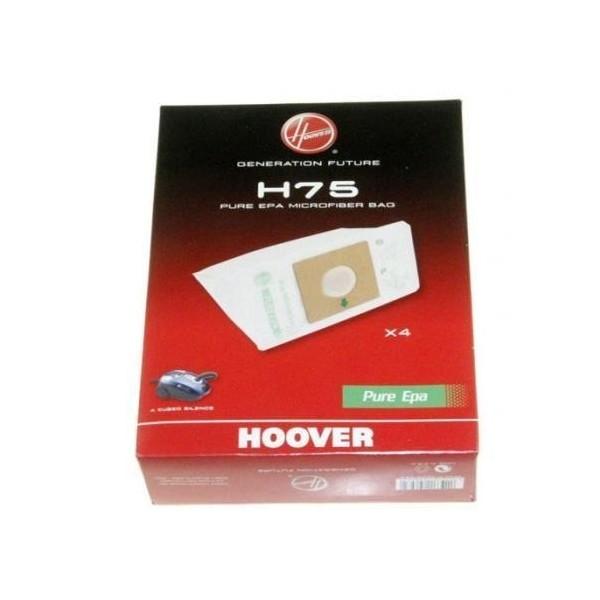 4 sacs H75 pour aspirateur Candy/Hoover