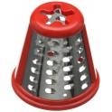 Cône grosse rape SS-193998 rouge pour robot Moulinex SS-193998 pour Robot ménager