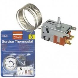 Thermostat universel N°3 Danfoss 077B7003. Réfrigérateur. Pièce détachée électroménager.