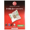 Pack de 4 sacs H63 Pure HEPA Hoover 35600536 pour Aspirateur