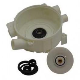 Carter de pompe + turbine + joints 06195751. Lave-vaisselle Miele. Pièce détachée électroménager.