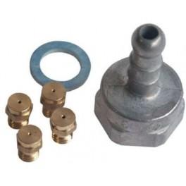 Kit d'injecteurs de gaz Butane 92X1630. Plaque de cuisson DeDietrich Brandt. Pièce détachée électroménager.