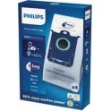 4 sacs aspirateur classique long performance Philips FC8021/03 pour Aspirateur