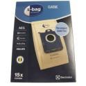 15 sacs papier E200SM Electrolux / AEG 9001688002 pour Aspirateur