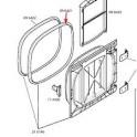 Joint de porte Bosch/siemens 00096421 pour Lave-linge