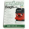 10 sacs Numatic 604015 pour Aspirateur